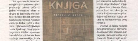 Prikaz romana Knjiga, Danas 08.08.2015 - Bojana Stojiljković